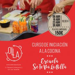 curso de inicicación a la cocina en Tenerife